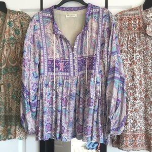 Spell Designs Poinciana Blouse Purple
